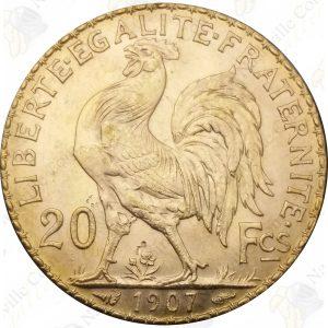 France 20 Francs Rooster -- .1867 oz Fine Gold