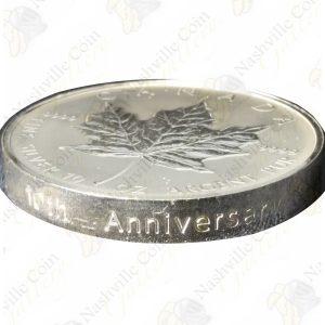 1998 Canada $50 10th Anniversary 10 oz Silver Maple Leaf