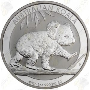2016 Australia 1 oz .999 fine silver Koala