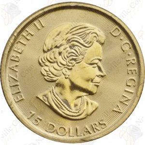 2017 Canada 1/3 oz .9999 fine gold Grizzly Bear
