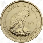 2017 Canada 1/3 oz .9999 fine gold Grizzly Bear