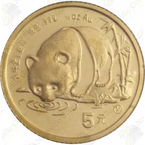 1987-Y (Shen Yang Mint) China 1/20 gold Panda (Sealed)