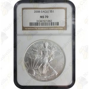 2008 American Silver Eagle -- NGC MS70