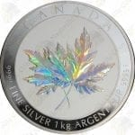 2015 Canada 1 Kilogram hologrammed silver Maple Leaf