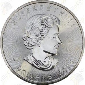 2014 Canadian 1 oz silver Maple Leaf