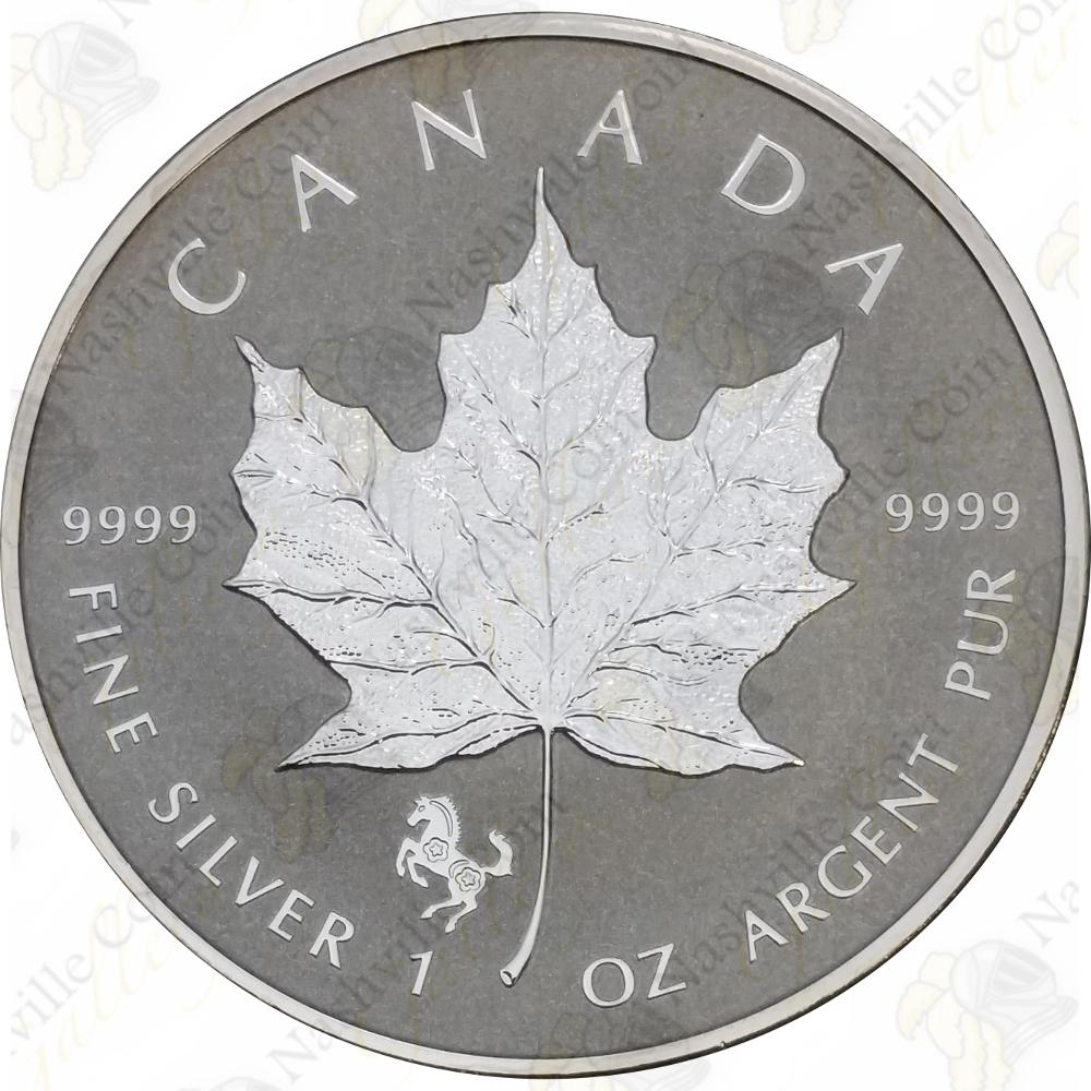 .9999 Fine Solid Silver Bullion Coin 2014 1 oz Silver Canadian Maple Leaf
