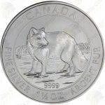 2014 Canada $8 1.5 oz silver Arctic Fox