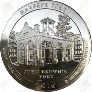 2016 America the Beautiful 5 oz silver Harper's Ferry, WV