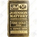 Johnson Matthey 1/4 oz .9999 fine gold bar