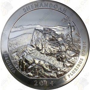 2014 America the Beautiful 5 oz silver Shenandoah National Park
