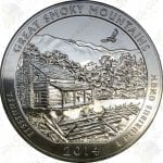 2014 America the Beautiful 5 oz silver Great Smoky Mountains