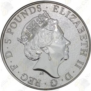 2017 Great Britain 2 oz silver Red Dragon of Wales