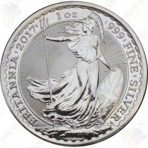 2017 Great Britain 1 oz Silver Britannia