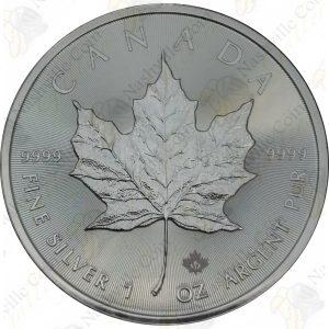 2017 Canada 1 oz .9999 fine silver Maple Leaf