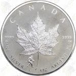 2016 Canada 1 oz $5 Silver Maple Leaf -- Bigfoot Privy Mark