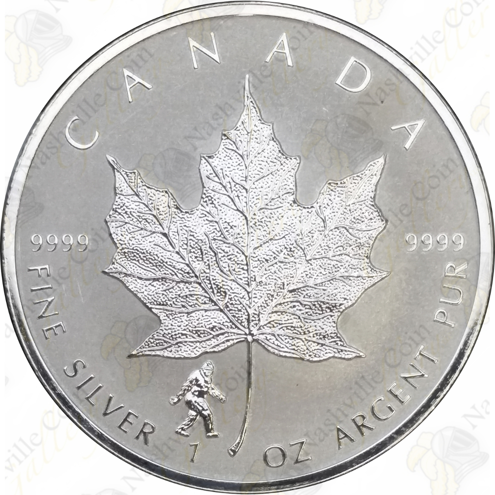 2016 Canada 1 Oz 5 Silver Maple Leaf Bigfoot Privy