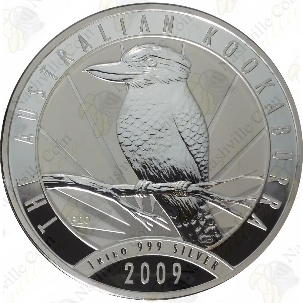2009 Australia 30 1 Kilo 999 Fine Silver Kookaburra