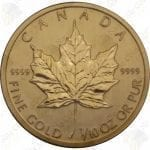 Canada 1/10 oz .9999 fine gold Maple Leaf - random date (Sealed)