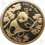 China 1/10 oz .999 fine gold Panda -- random date (Sealed)