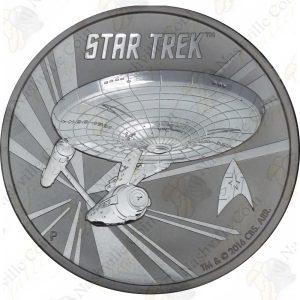 2016 Tuvalu 1 oz .999 fine silver Star Trek