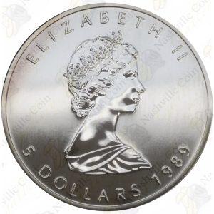 1989 Canada $5 1 oz silver Maple Leaf -- Uncirculated