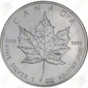 1991 Canada $5 1 oz silver Maple Leaf -- Uncirculated