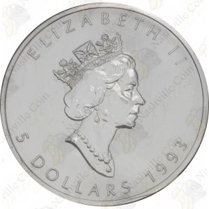 1993 Canada $5 1 oz silver Maple Leaf -- Uncirculated