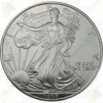 1997 American Silver Eagle -- BU -- 1 oz .999 fine silver