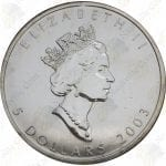 2003 Canada $5 1 oz silver Maple Leaf -- Uncirculated