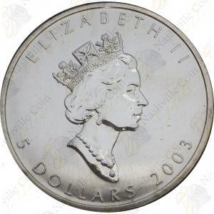 2003 Canada $5 1 oz silver Maple Leaf -- Uncirculated