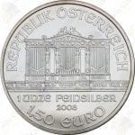 2008 Austria 1.5 Euro 1 oz .999 fine silver Philharmonic - Uncirculated