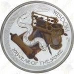 2013 Tuvalu $1 1 oz .999 fine silver Year of the Snake (Wisdom) - Uncirculated