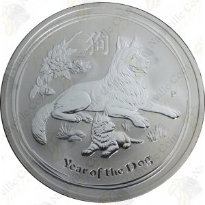 2018 Australia 1 oz .999 fine silver Year of the Dog - Uncirculated