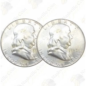 Franklin Silver Half Dollars - 2 coin lot - Uncirculated