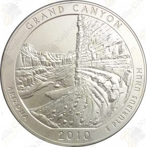 2010-P America the Beautiful 5 oz silver Grand Canyon (Specimen finish)