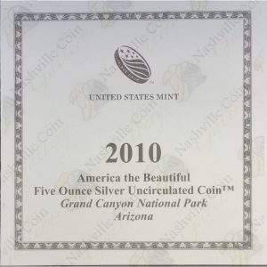 2010-P America the Beautiful 5 oz silver Grand Canyon National Park (Specimen finish)