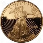 1/2 ounce Proof American Gold Eagle w/box and COA