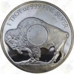 Sunshine Mint 1 oz .999 fine silver Buffalo round
