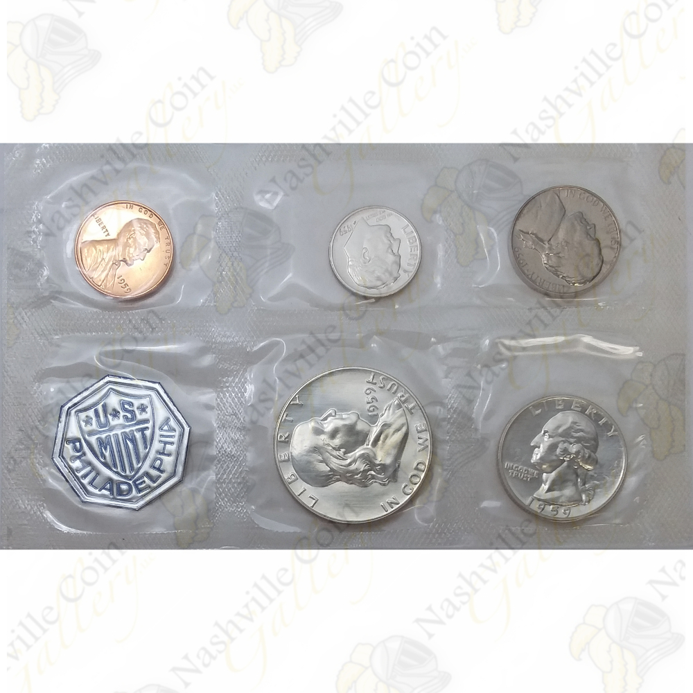 1959 Roosevelt Silver Mint Proof from Original U.S Proof Set in Mint Cellophane