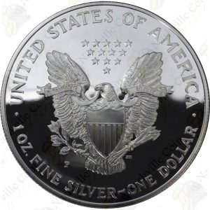 1996 Proof American Silver Eagle with box and COA