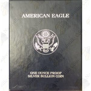2000 Proof American Silver Eagle with box and COA
