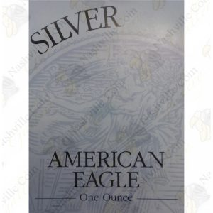 2002 Proof American Silver Eagle with box and COA