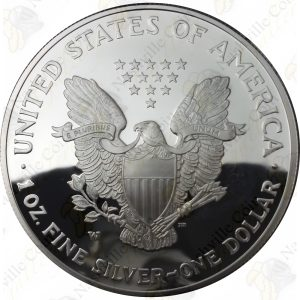 2004 Proof American Silver Eagle with box and COA