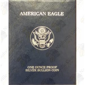 2005 Proof American Silver Eagle with box and COA