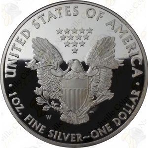 2008 Proof American Silver Eagle with box and COA