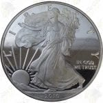 2010 Proof American Silver Eagle with box and COA