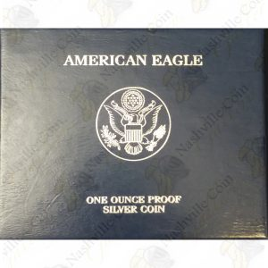 2007 Proof American Silver Eagle with box and COA