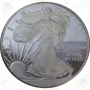 2012 Proof American Silver Eagle with box and COA