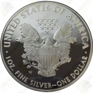 2014 Proof American Silver Eagle with box and COA