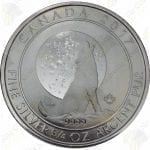 2017 Canada $2 3/4 oz .9999 fine silver Howling Wolf